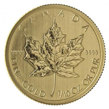 Maple Leaf Goldmünze Privy Mark 1997 - 1/10 Unze 999,9 Feingold