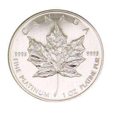 Platinmünze Maple Leaf - 1 Unze - 50 Dollar
