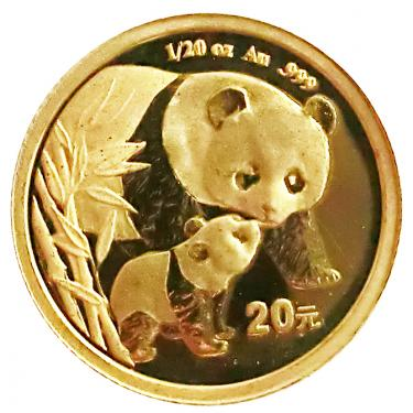 China Panda Goldmünze 2004 - 1/20 Unze