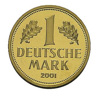 1 Deutsche Mark 2001 Goldmünze - 12 Gramm Gold