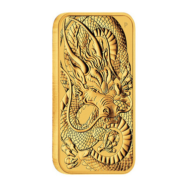 Goldmünze Rectangle Dragon 2021 - Perth Mint - 1 Unze