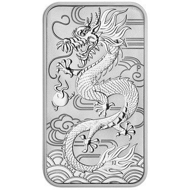 Silbermünze Rectangular Dragon 2019 - Perth Mint - 1 Unze