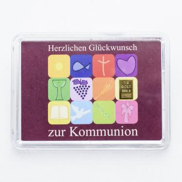 Goldbarren 1 Gramm zur Kommunion
