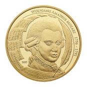 Wolfgang Amadeus Mozart Goldmünze 2017 1 Unze