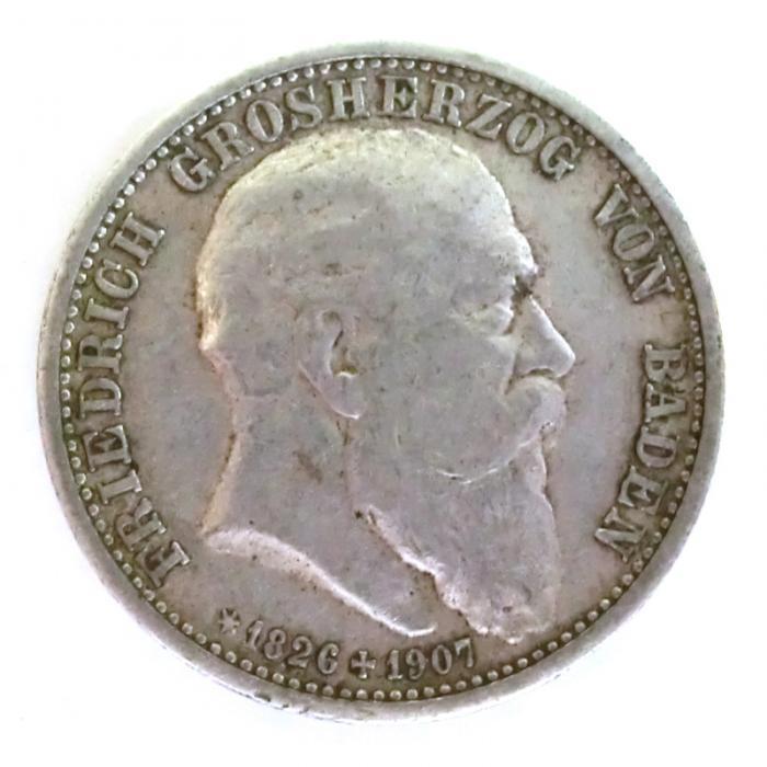 Silbermünze Deutsches Reich 2 Mark Friedrich I