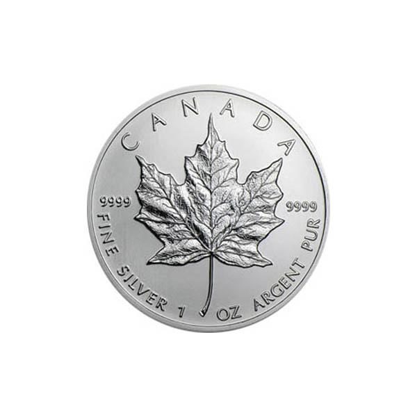 Silbermünze Maple Leaf 1990 1 Unze 999 Feinsilber