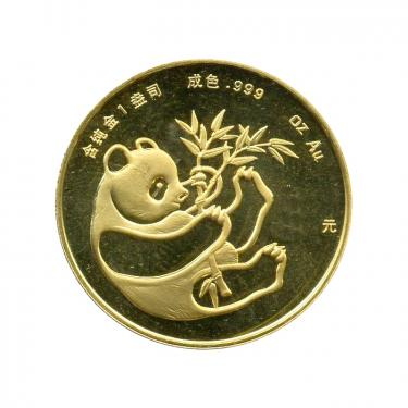 China Panda Goldmünze 1984 - 1/20 Unze