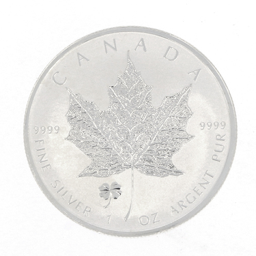 Silbermünze Maple Leaf 2016- 1 Unze Kleeblatt Privy Mark
