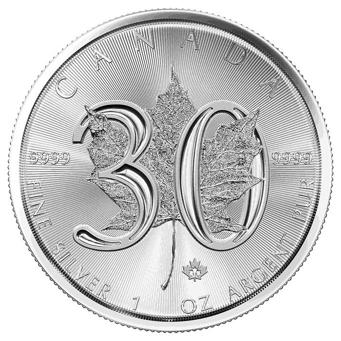 Silberm 252 Nze Maple Leaf 30 Jahre Jubil 228 Um 2018 1 Unze