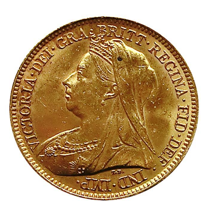 12 Pfund Sovereign Victoria Schleier Goldmünze