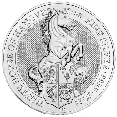Silbermünze The Queens Beasts The White Horse of Hanover - 10 Unzen