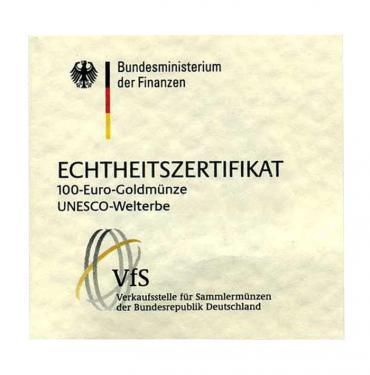 Zertifikat für Fußball Fifa 2005 - 1/2 Unze -100 €